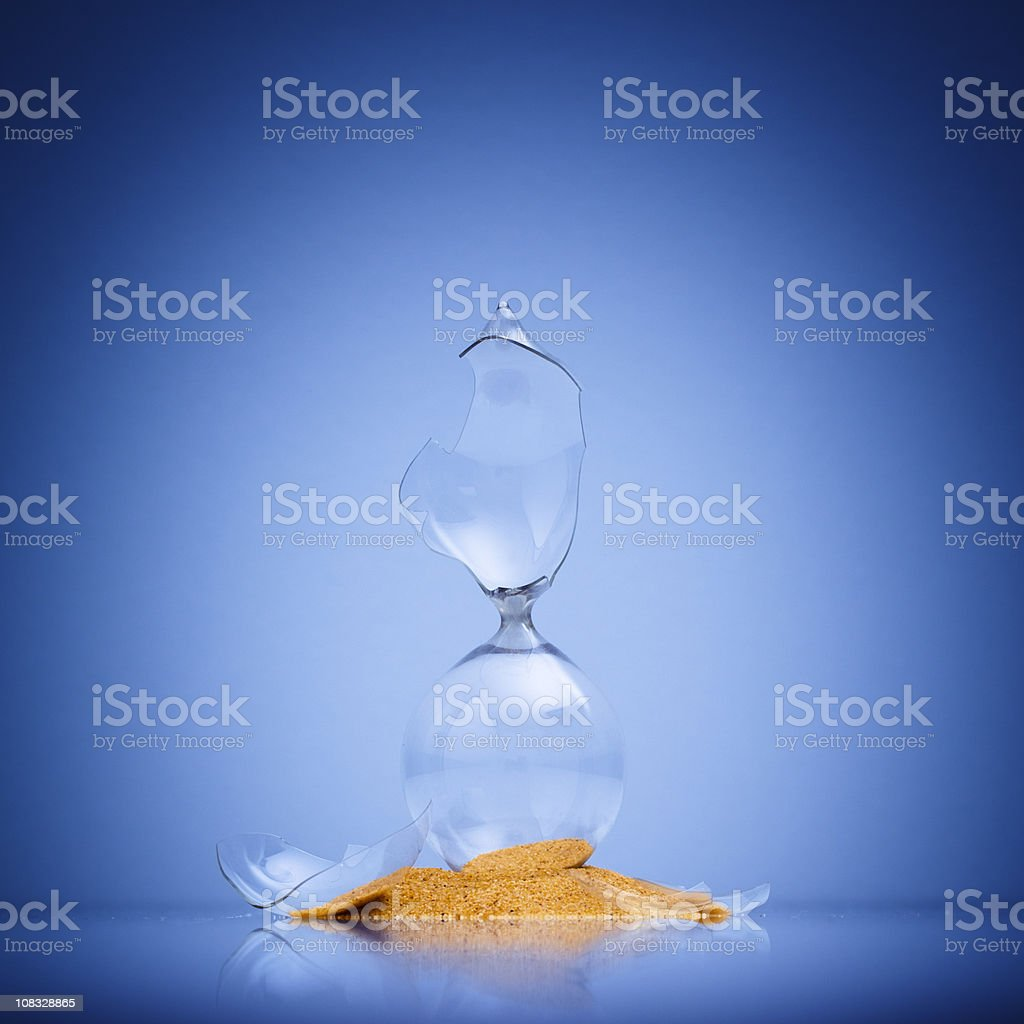 Broken Hourglass royalty-free stock photo