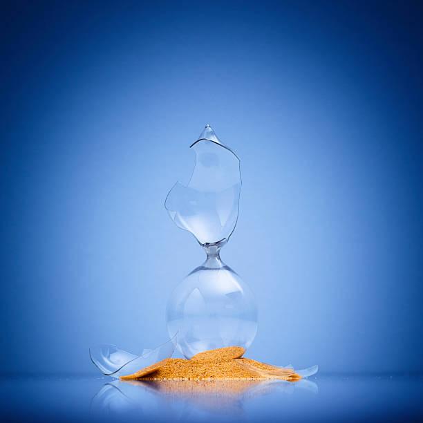 Broken Hourglass stock photo
