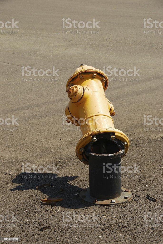 Broken Hydrant stock photo