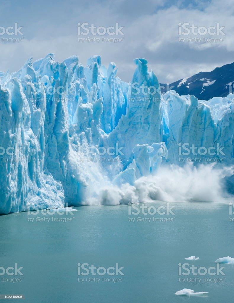 Broken ice formations of the Perito Moreno Glacier royalty-free stock photo