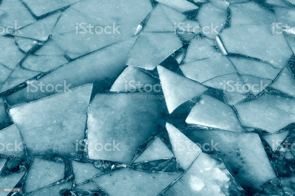 Broken Ice On The Surface of a Lake royalty-free stock photo