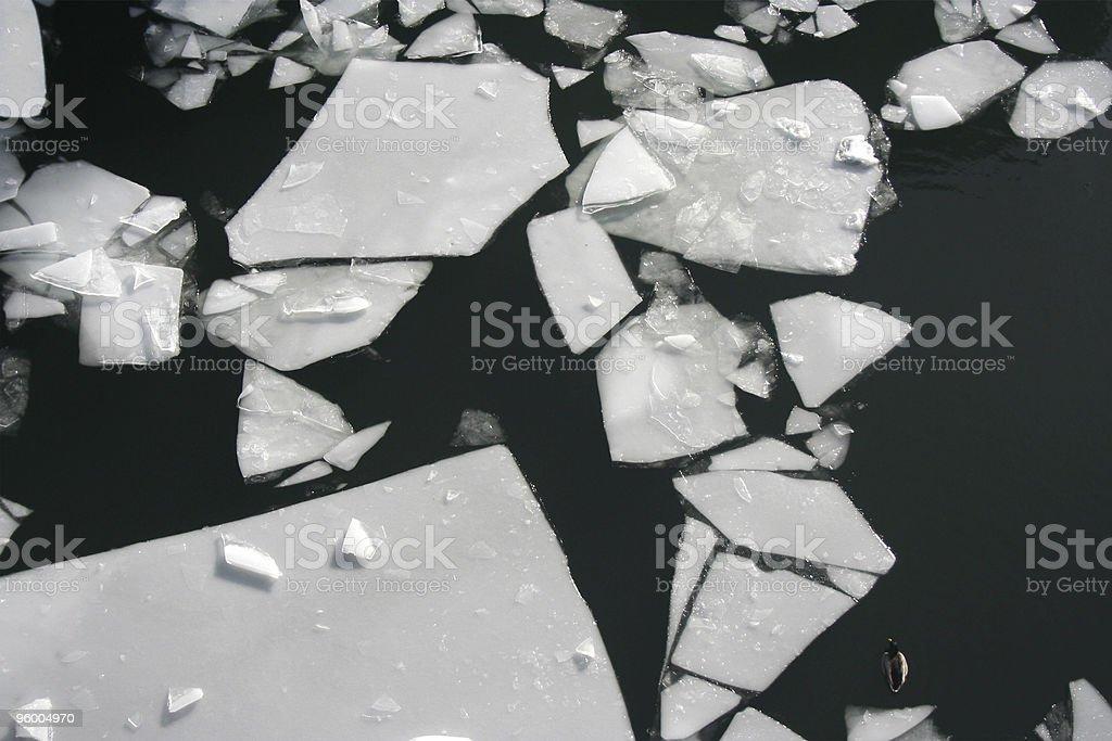 Broken Ice Sheet stock photo