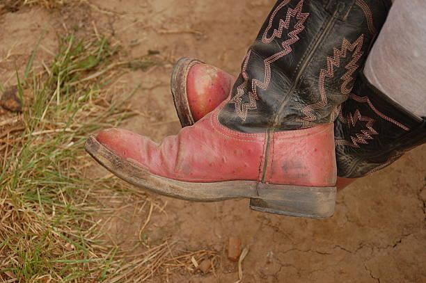 Broken In Pair of Cowboy Boots stock photo