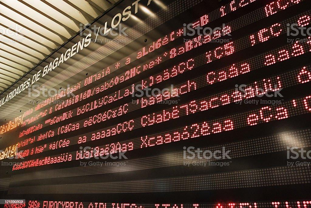 Informações no Aeroporto de Broken - foto de acervo
