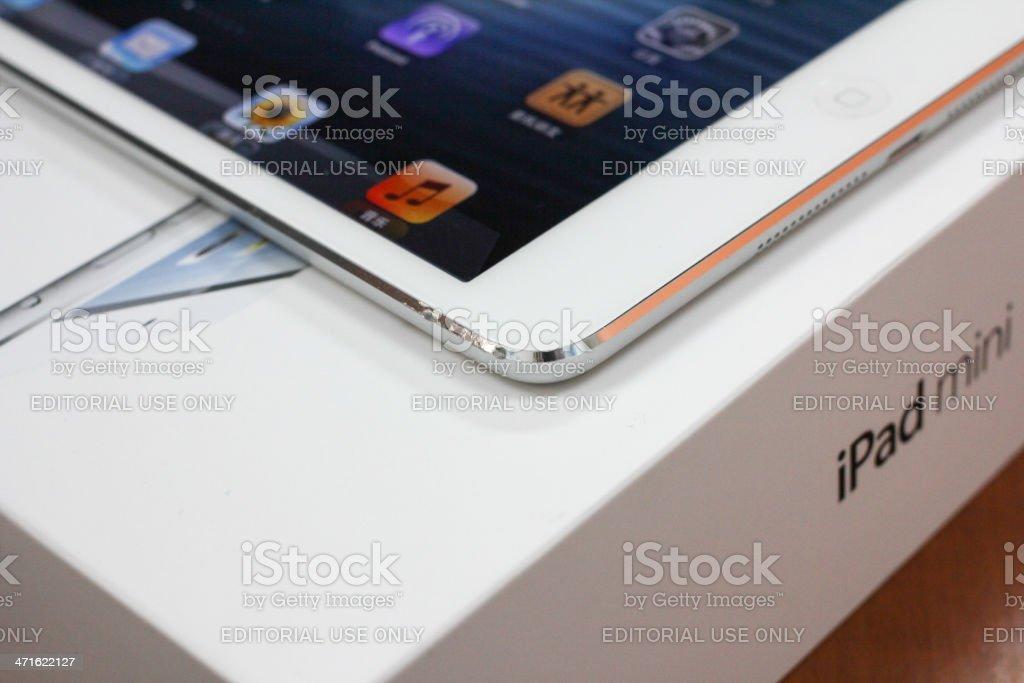 Broken ipad mini royalty-free stock photo