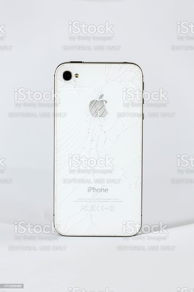 Broken Iphone 4s stock photo