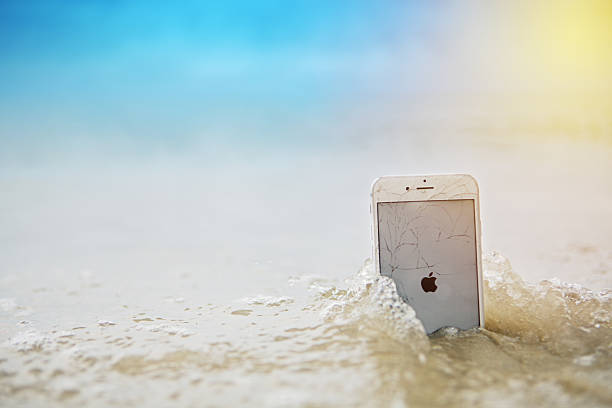 broken iphone 6 - broken iphone stock photos and pictures