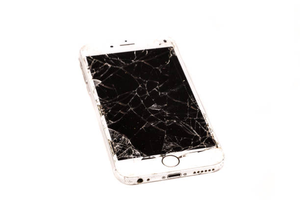 Broken iPhone 6S developed by the company Apple Inc stock photo