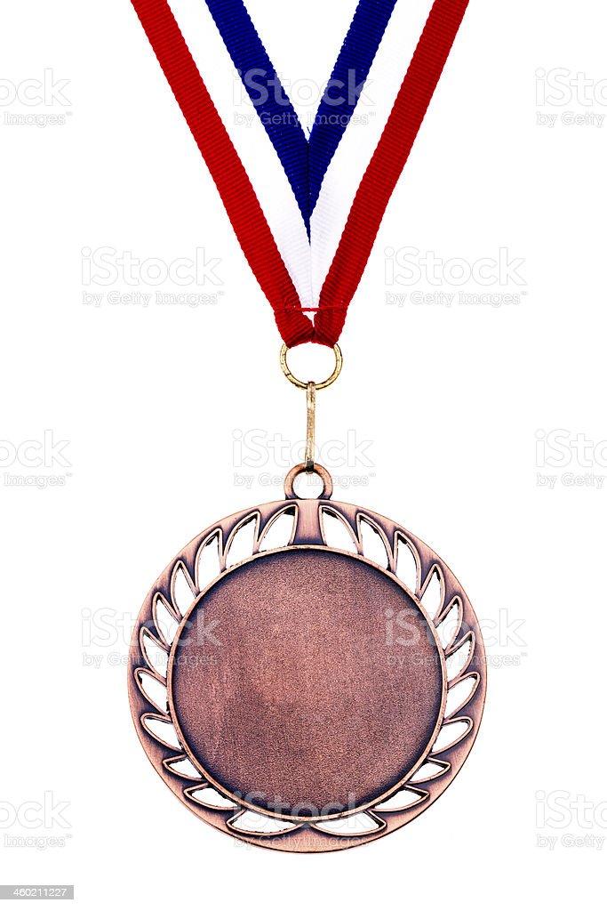 Broken is Bronze medal stock photo