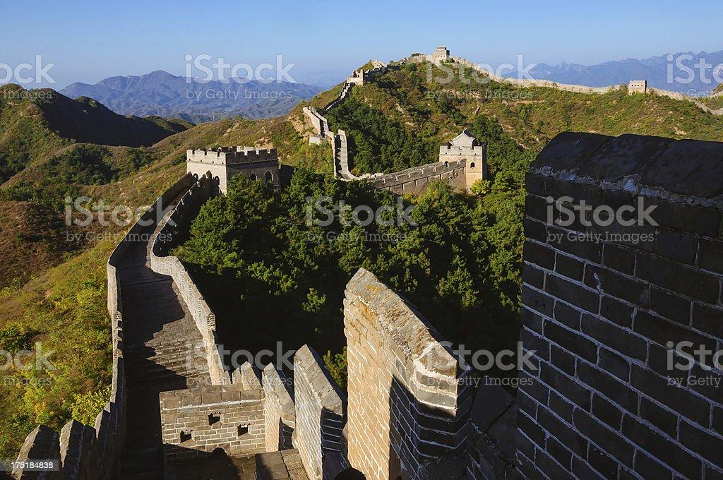 Broken Jinshanling Great Wall,  in Beijing China royalty-free stock photo