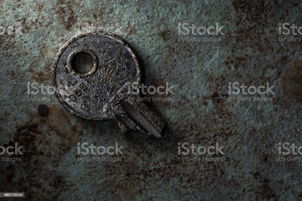 Broken Key stock photo