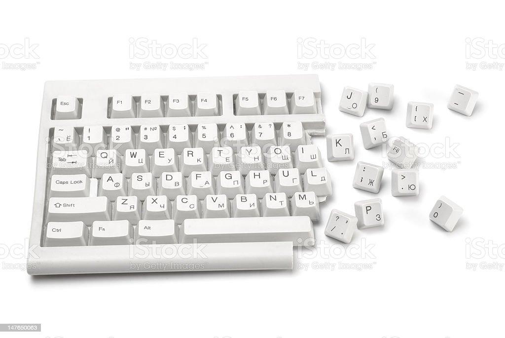 broken keyboard royalty-free stock photo