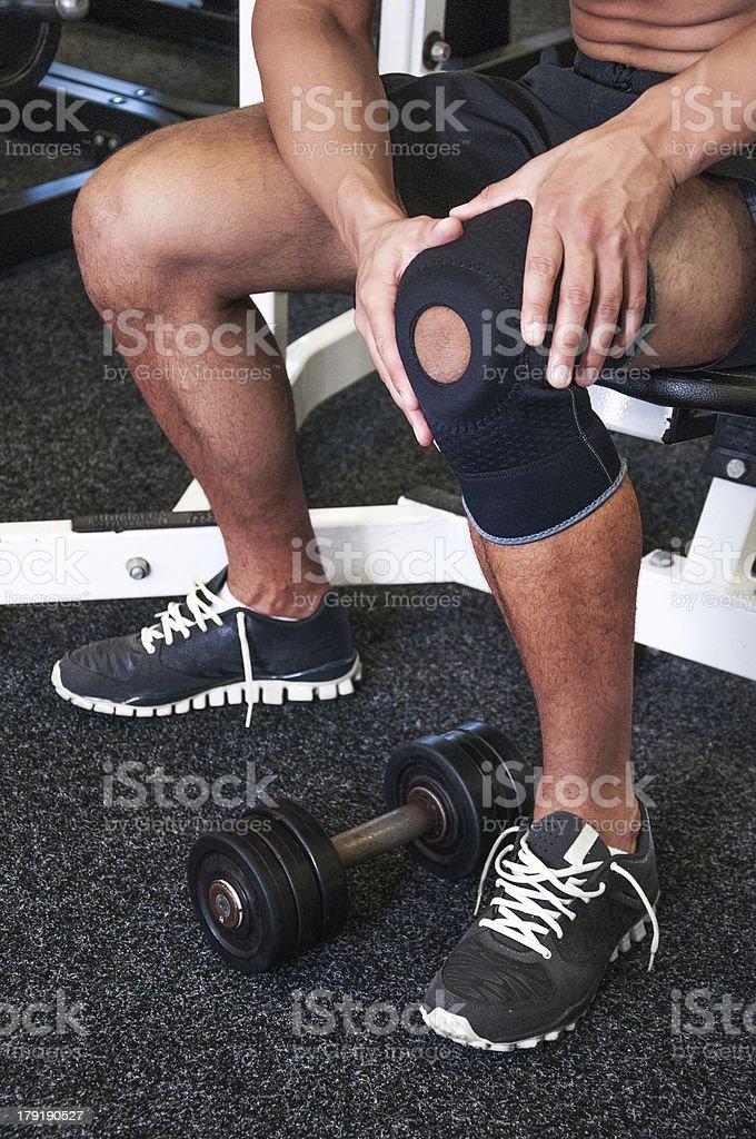 Broken knee stock photo