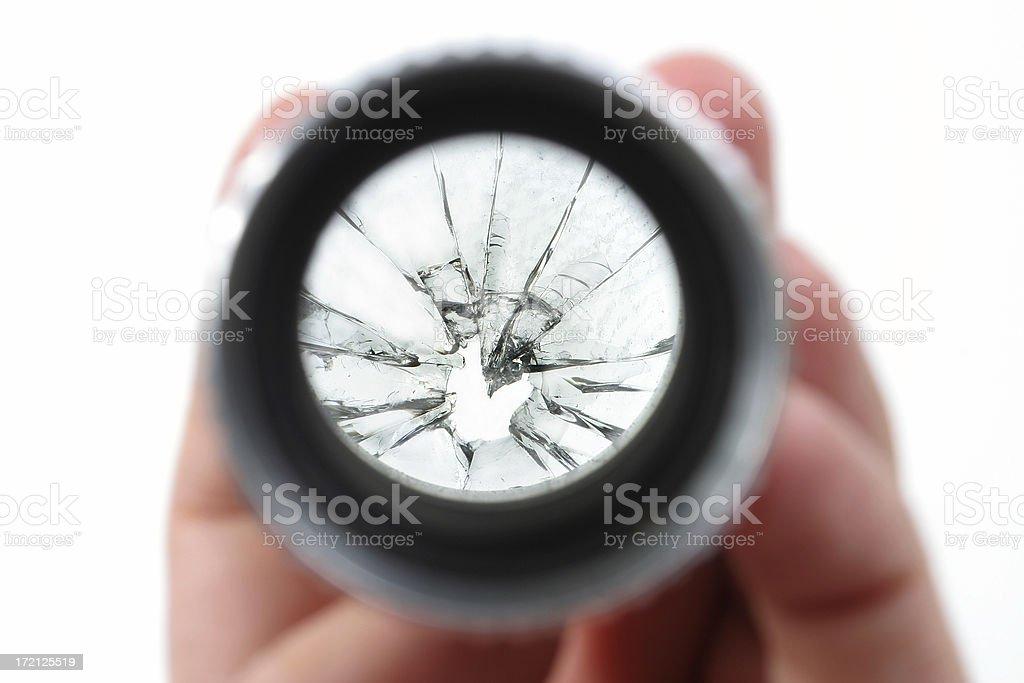 Broken lens royalty-free stock photo