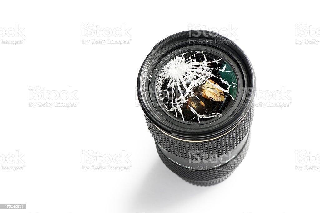 Broken Lens stock photo