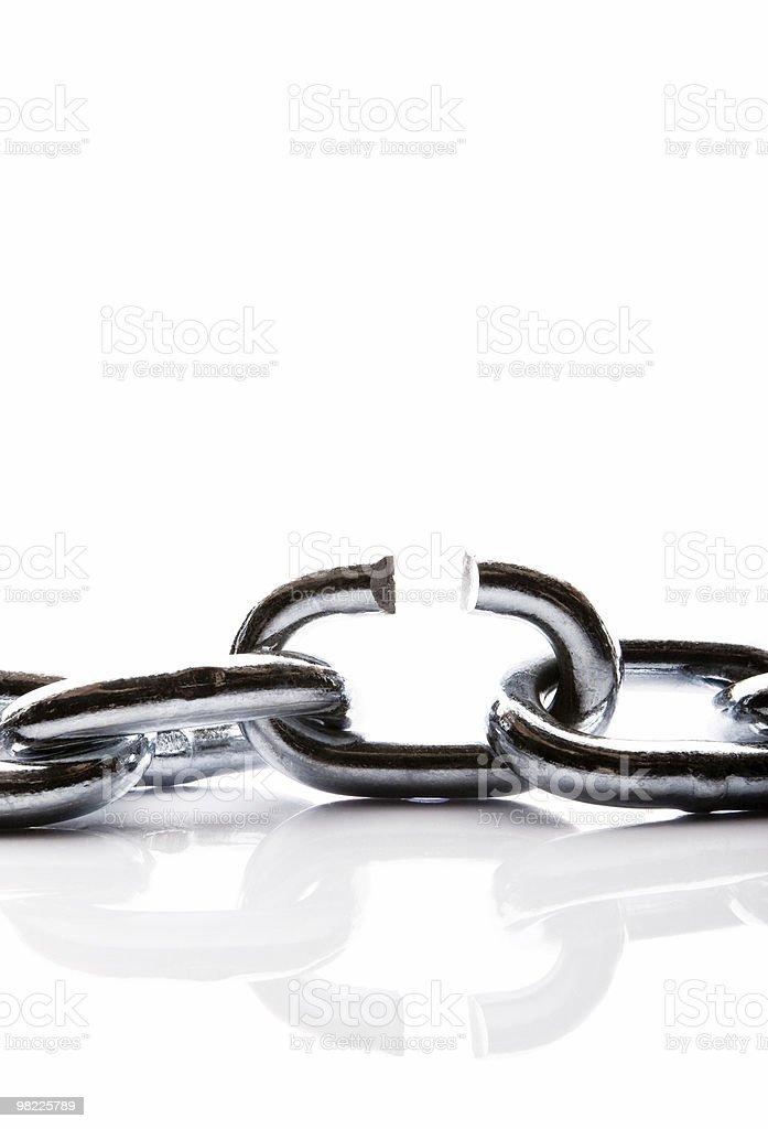 Rotto catena link foto stock royalty-free