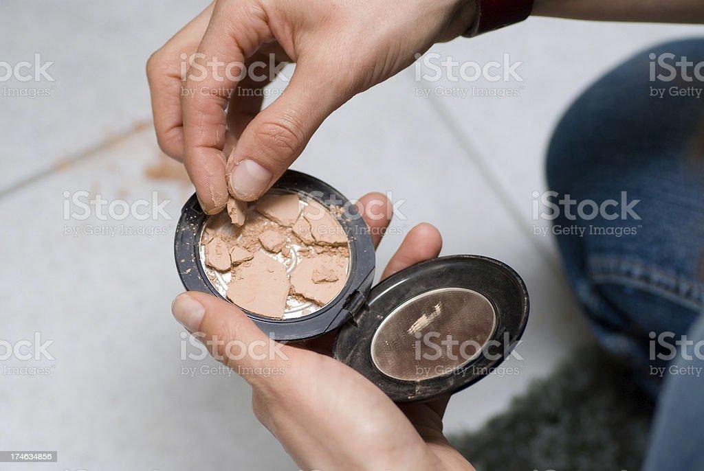 broken make-up cosmetics royalty-free stock photo