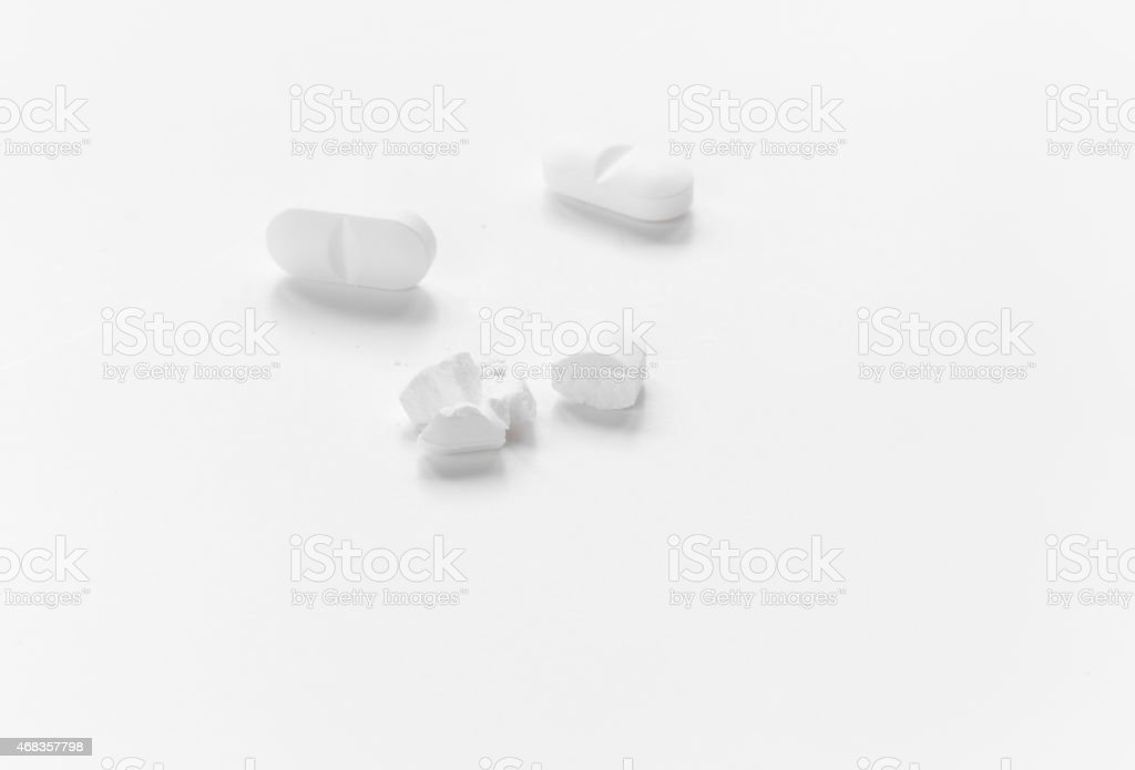broken medicine royalty-free stock photo