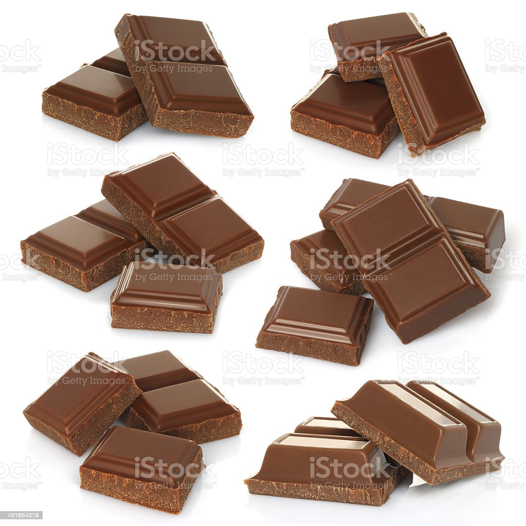 Roto bar de chocolate con leche - foto de stock