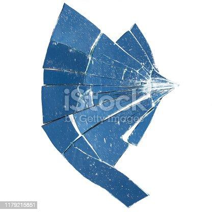 882262948 istock photo Broken mirror 1179215851