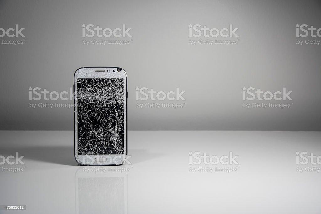 Broken Mobile Screen stock photo