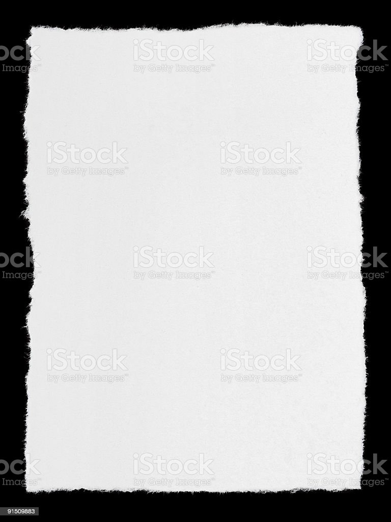 Broken paper page royalty-free stock photo