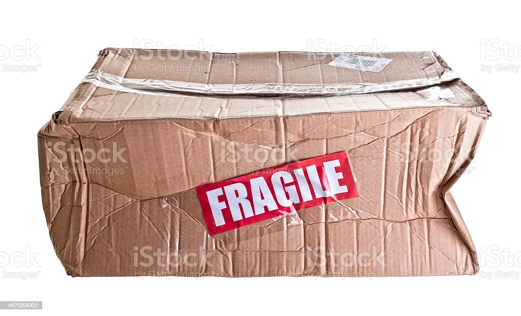 broken parcel stock photo