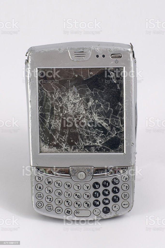 Broken PDA royalty-free stock photo
