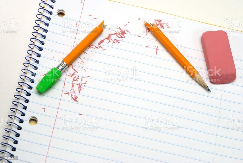 Сломанный карандаш и ошибок Стоковые фото Стоковая фотография