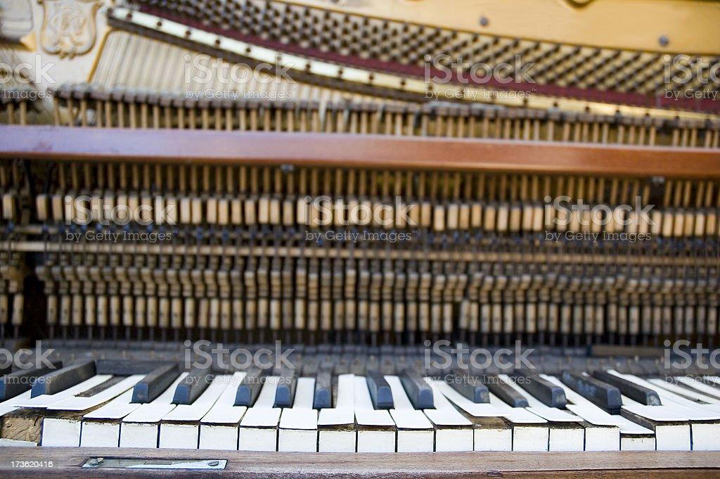 broken piano 3 royalty-free stock photo