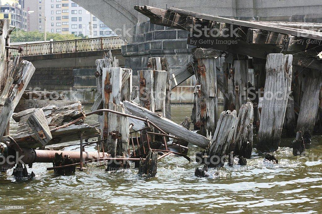 Broken Pier stock photo