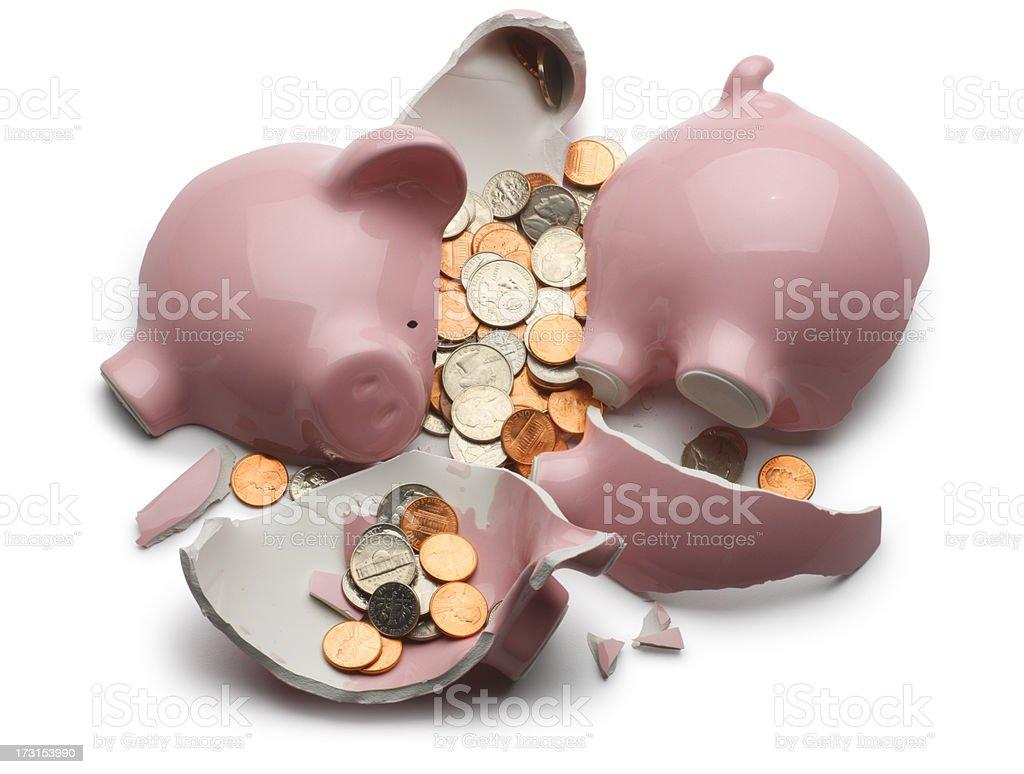Broken Piggy Bank stock photo
