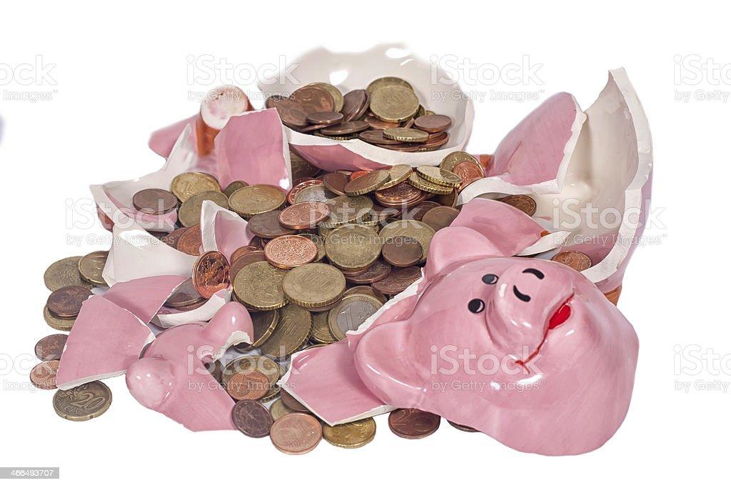 Broken Piggybank royalty-free stock photo