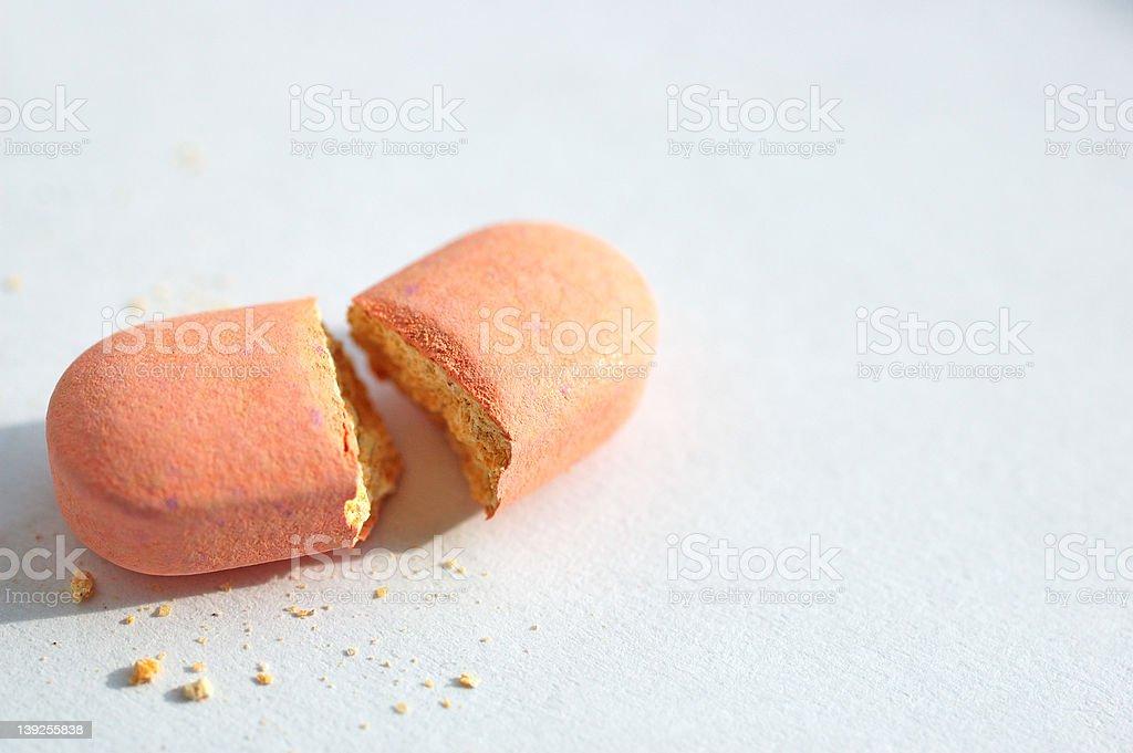 broken pill stock photo