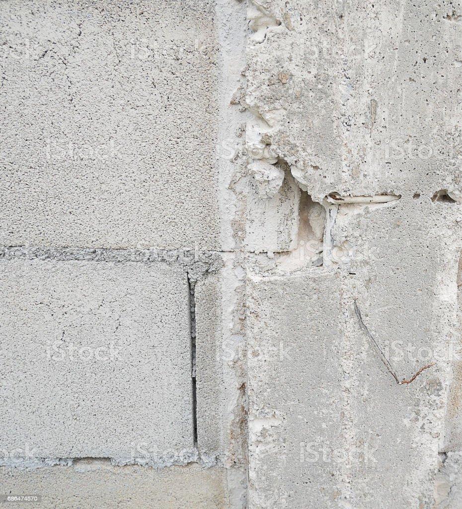 broken Pillar concrete wall stock photo
