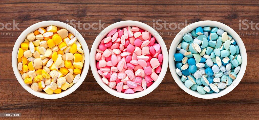 Broken pills royalty-free stock photo