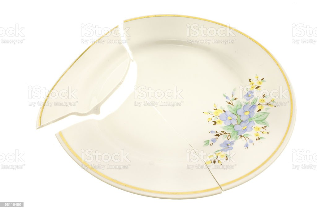 broken plate royalty-free stock photo