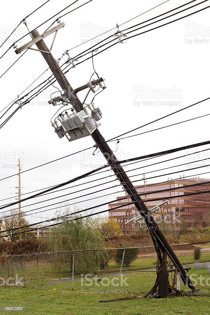 Broken Power Line royalty-free stock photo