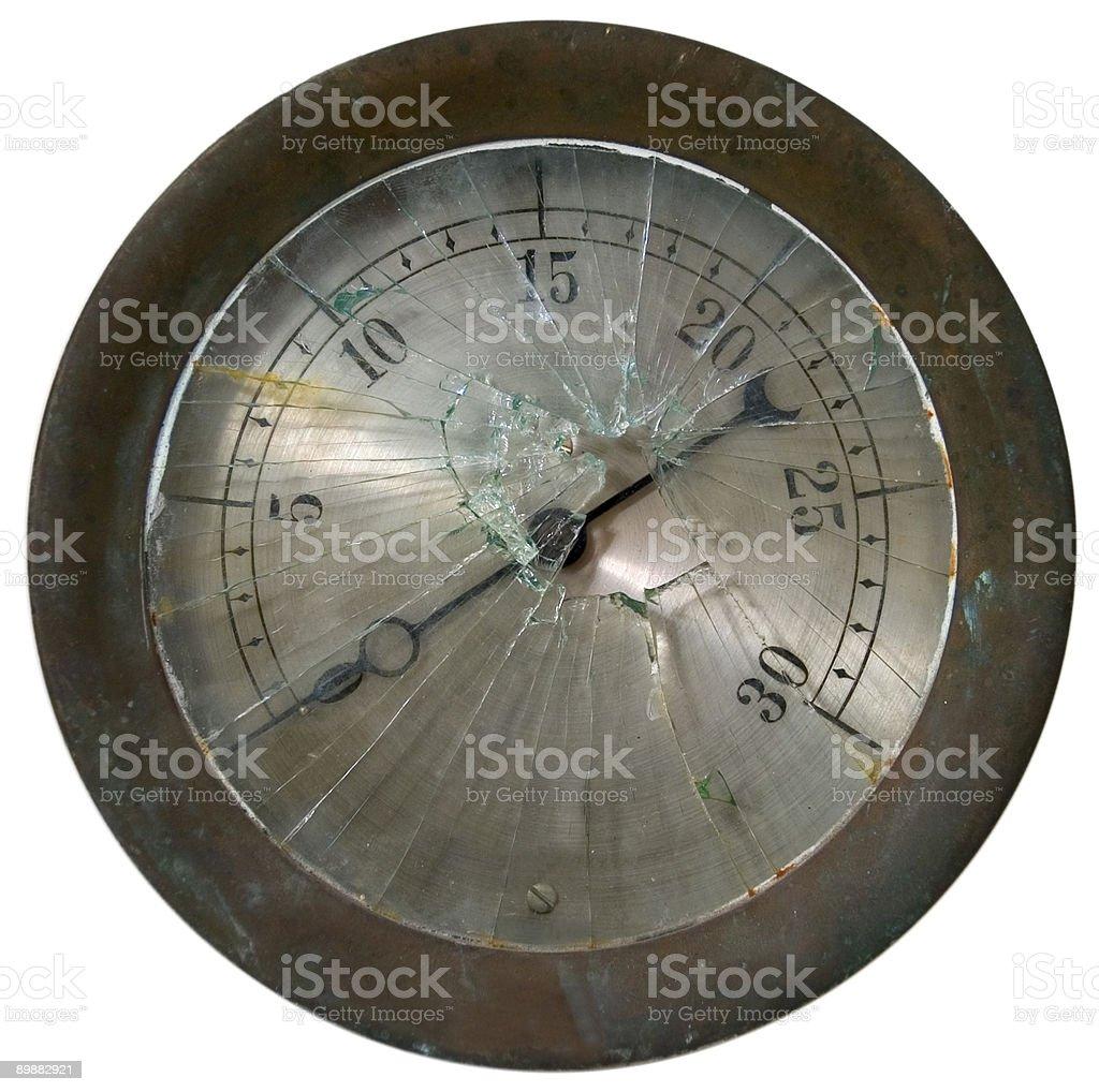 Broken pressure gauge royalty-free stock photo