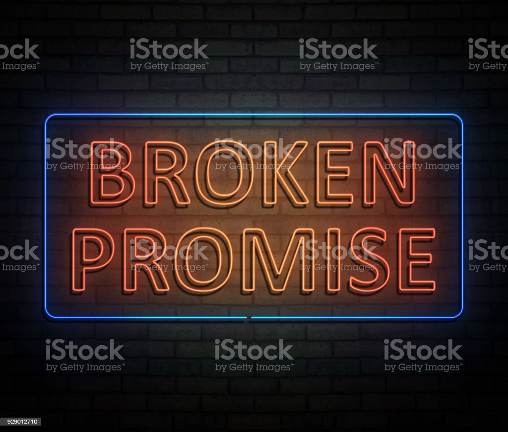 Broken promise concept. stock photo