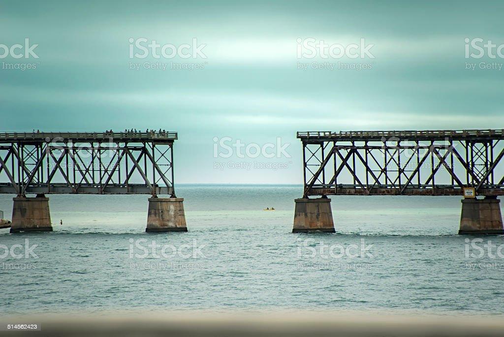 Broken railway stock photo