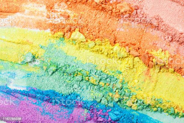Broken rainbow colored eye shadow smear make up palette isolated on a picture id1162285338?b=1&k=6&m=1162285338&s=612x612&h=spkiosrbmk5 ae8wkx1rdeoyvi0uodjxqwe0mvjkchy=