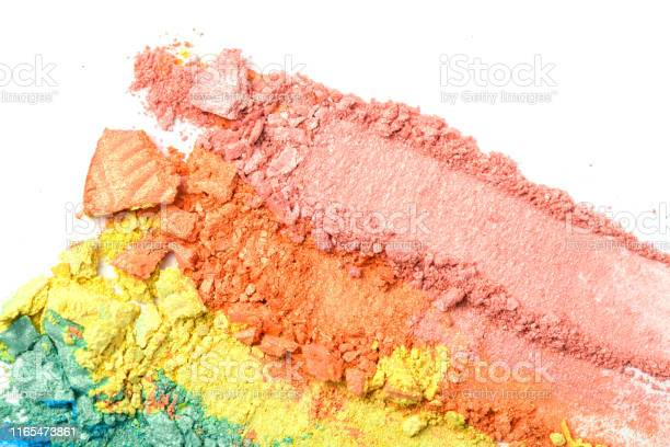 Broken rainbow colored eye shadow smear make up palette isolated on a picture id1165473861?b=1&k=6&m=1165473861&s=612x612&h=dsqm4ugtwjbo3n71njh6n1fjacstbqsl38hdeirz um=