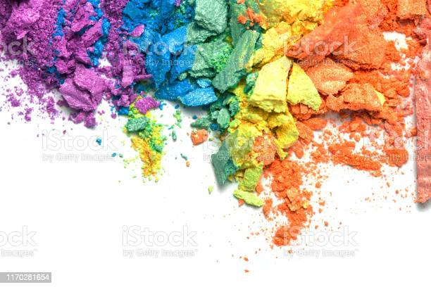 Broken rainbow colored eye shadow smear make up palette isolated on a picture id1170281654?b=1&k=6&m=1170281654&s=612x612&h=h l31ahlkbpsplpctgy2jegk9d7ly mxkv3lxtu9kku=