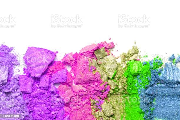Broken rainbow colored eye shadow smear make up palette isolated on a picture id1180931881?b=1&k=6&m=1180931881&s=612x612&h=hrzwt7pb7yschxcs6esdxl0djctpr9boxfxzlubug6a=