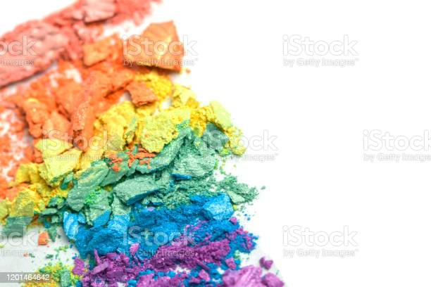 Broken rainbow colored eye shadow smear make up palette isolated on a picture id1201464642?b=1&k=6&m=1201464642&s=612x612&h=sjruce0f7tmuqhmghcmlyutkghq4zbbekhdvowy8gas=