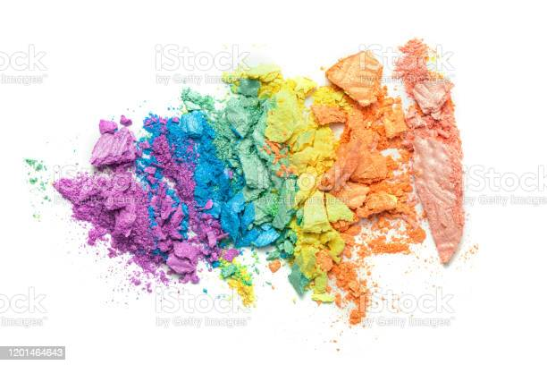 Broken rainbow colored eye shadow smear make up palette isolated on a picture id1201464643?b=1&k=6&m=1201464643&s=612x612&h= awkkqry9uufth dstmvoqtit8vizqusdqjuesvt9eu=
