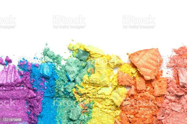 Broken rainbow colored eye shadow smear make up palette isolated on a picture id1221973958?b=1&k=6&m=1221973958&s=612x612&h=af9qmm2wubzgy kj0k8sp0wvok7dcrwrysacog gave=