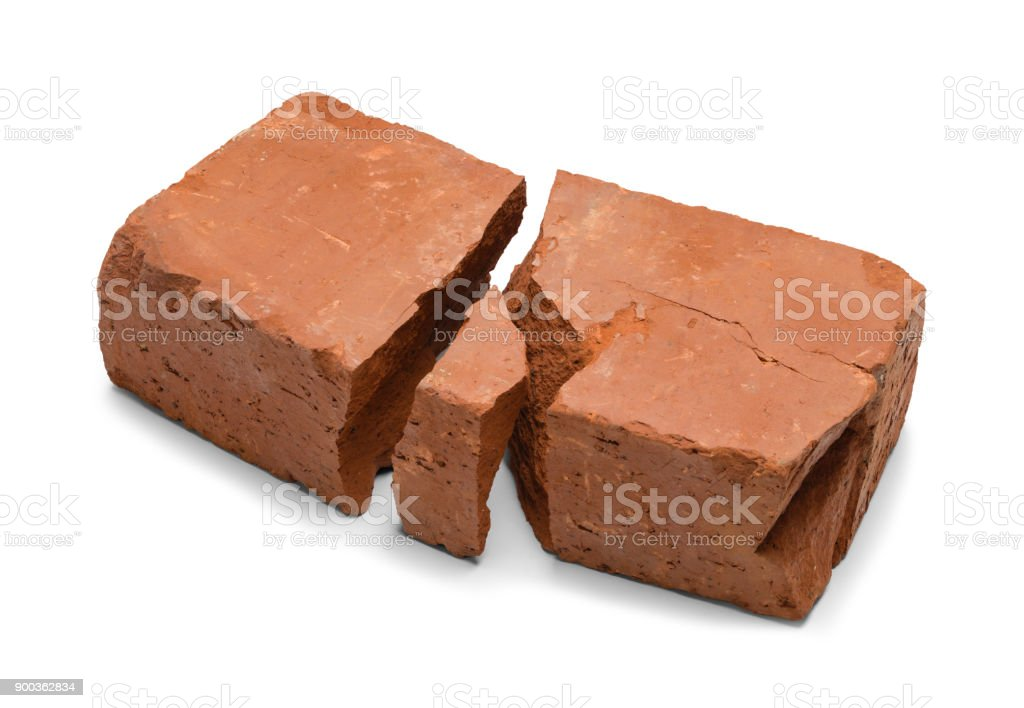 Broken Red Brick stock photo