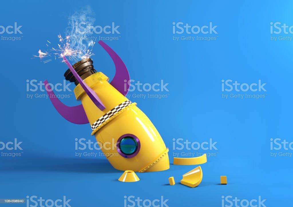Retro-Spielzeug Rakete gebrochen – Foto